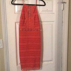 Coral dress worn once
